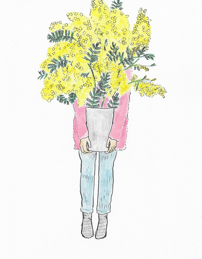 Bouquet mimosa